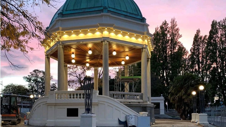 The Thomas Edmonds Band Rotunda is open. Photo: Supplied