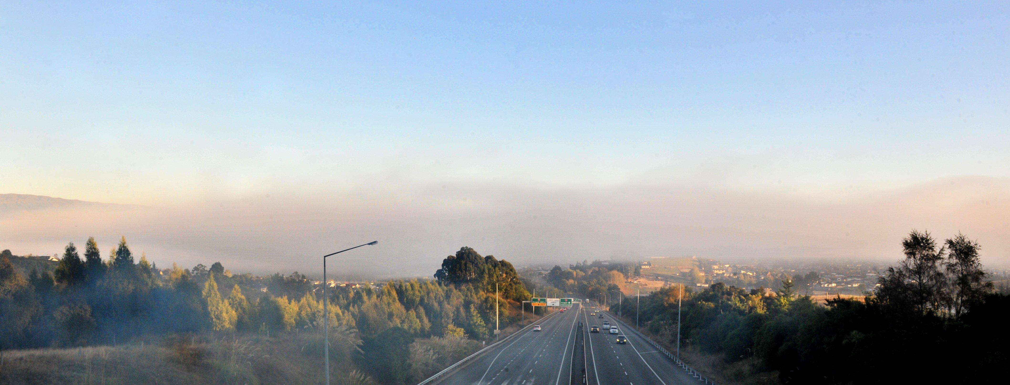 Fog sits over Mosgiel on Thursday morning. Photo: Christine O'Connor