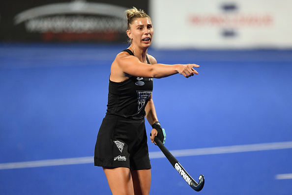 Olivia Merry during the FIH Women's Pro League match between New Zealand and Argentina at Nga...