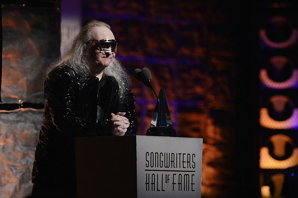 Jim Steinman speaks at the Songwriters Hall of Fame 43rd Annual induction and awards in New York in June 2012 . Photo: Getty Images