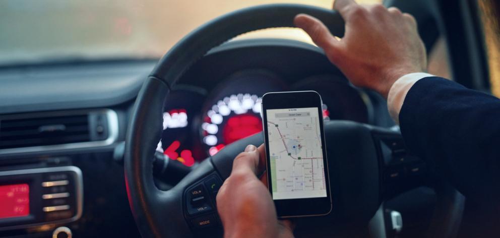 Cellphone in car: Getty