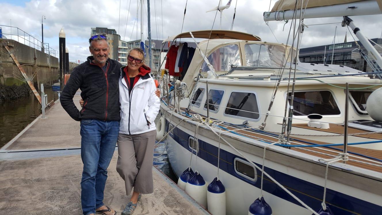 Helen Shrewsbury and her husband Stephen Prendergast. Photo: Supplied