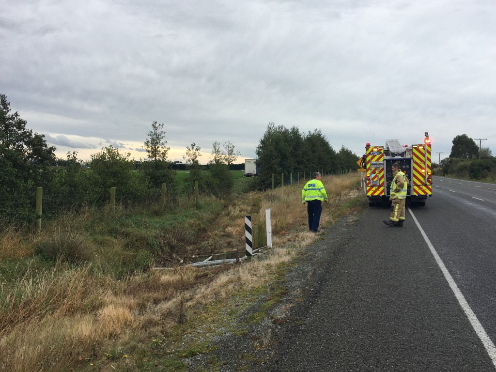 Emergency services at the scene this morning. Photo: Ruby Heyward