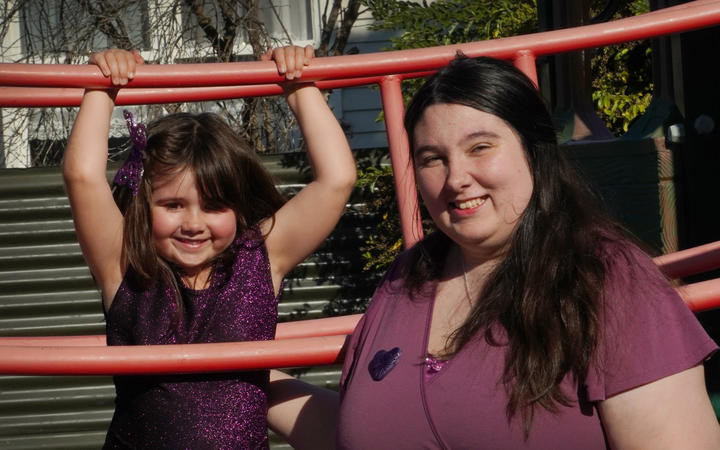 Laura Hume (pictured with her daughter) has epilepsy and was caught up in the Pharmac brand...