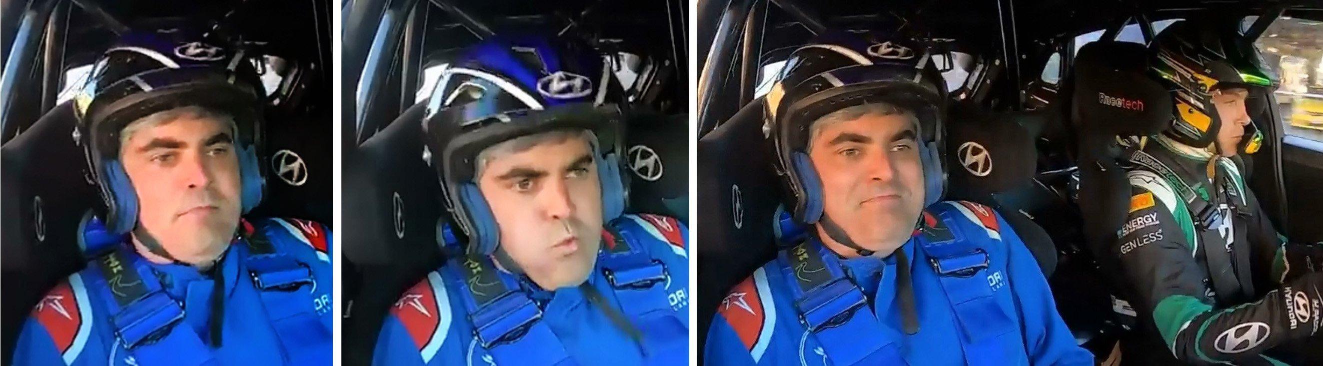 Dunedin Mayor Aaron Hawkins' face tells the story of his wild ride with 2021 Otago Rally champion...