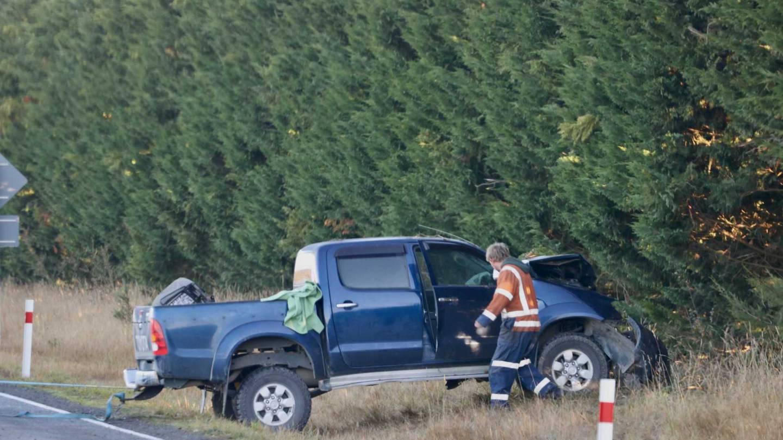 The crash on South Eyre Rd near Oxford. Photo: George Heard