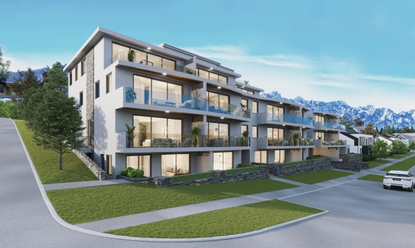 An artist's impression of Lachlan Francis' newest proposed apartment complex, The Mont Blanc....