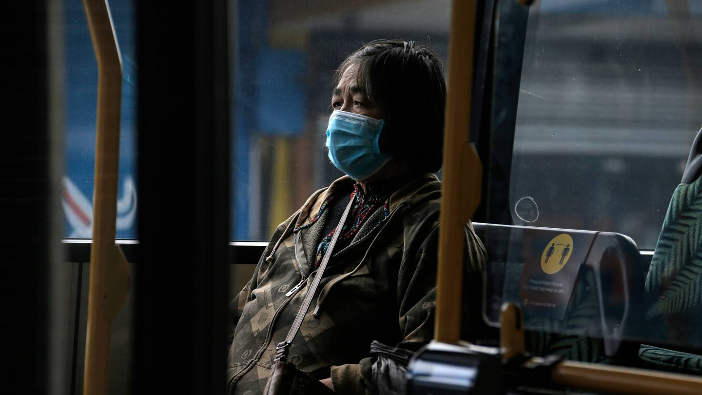 Bus drivers say they are relying on a system of trust in enforcing mask use. Photo: Alex Burton