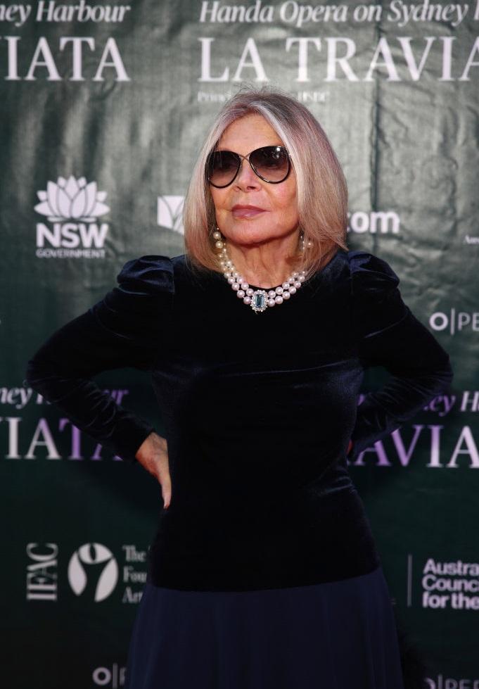 Carla Zampatti at the opening of opera La Traviata in Sydney on March 26.  Photo: Getty Images