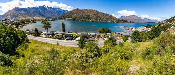 A land parcel for sale directly opposite Frankton Marina. Photo: Scene