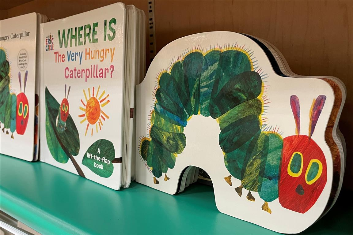 Copies of Eric Carle books on display in a bookstore in Encinitas, California. Photo: Reuters