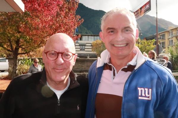 Queenstown mayor Jim Boult (left) and Tourism Minister Stuart Nash. Photo: Mountain Scene