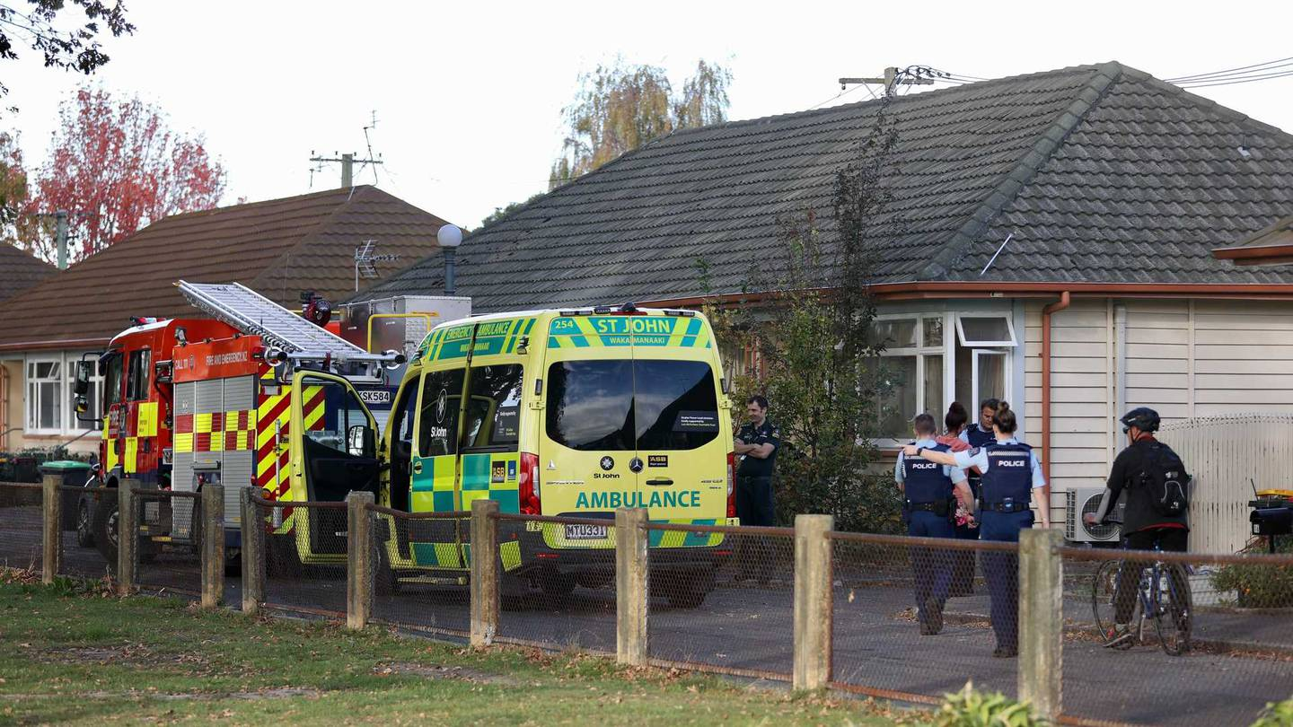Emergency services are responding to a serious incident in Christchurch. Photo: George Heard