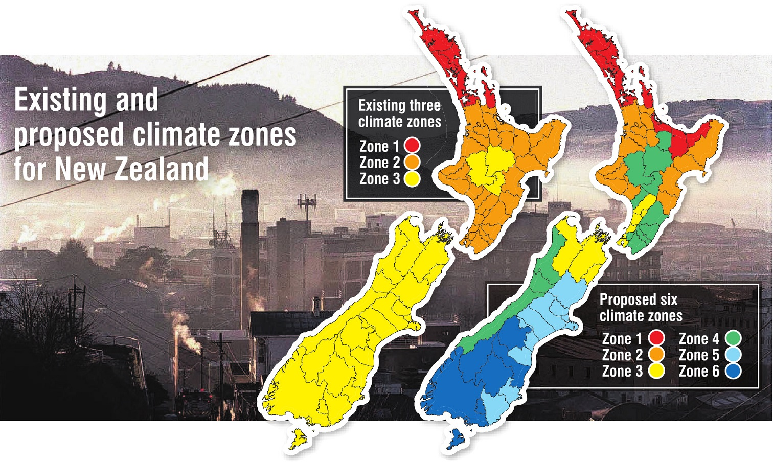 MBIE is raising building standards in line with a new map that shows where the country gets...