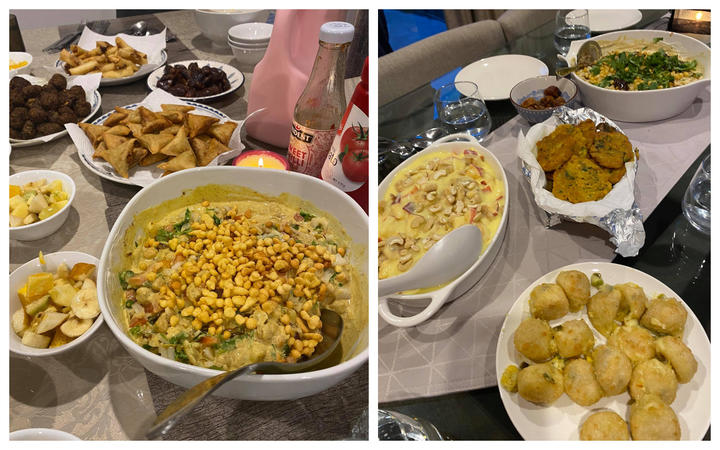 Some of the food available for the iftar meal at Farid Ahmed's house. Photo: RNZ / Eleisha Foon