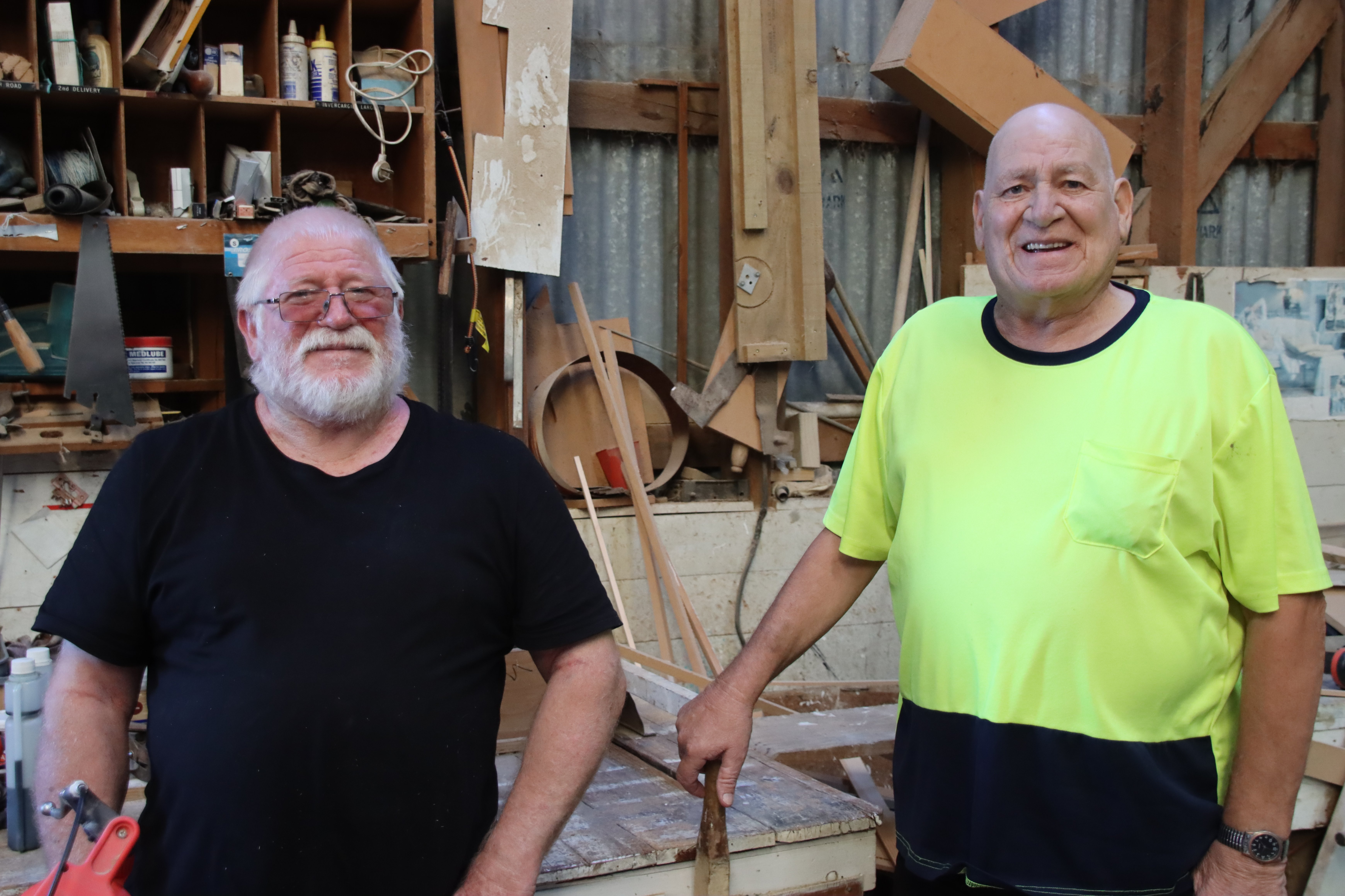 Wyndham builders Bruce (left) and Jim Geary are slowly winding down their business which their...