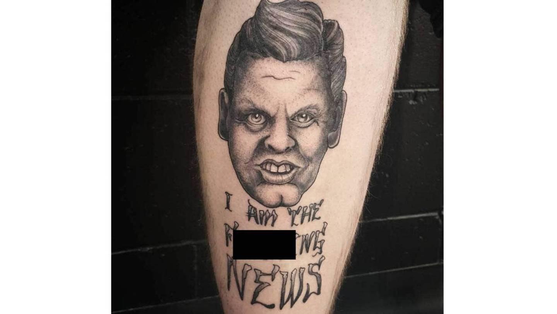 The 2017 tattoo. Photo: Josh D Tattoos