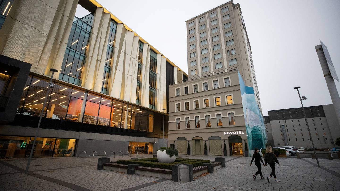 The Novotel Hotel in Cathedral Square. Photo: George Heard
