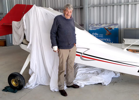 Alan Macdonald is determined to return to the air following his recent scare. Photo: North...