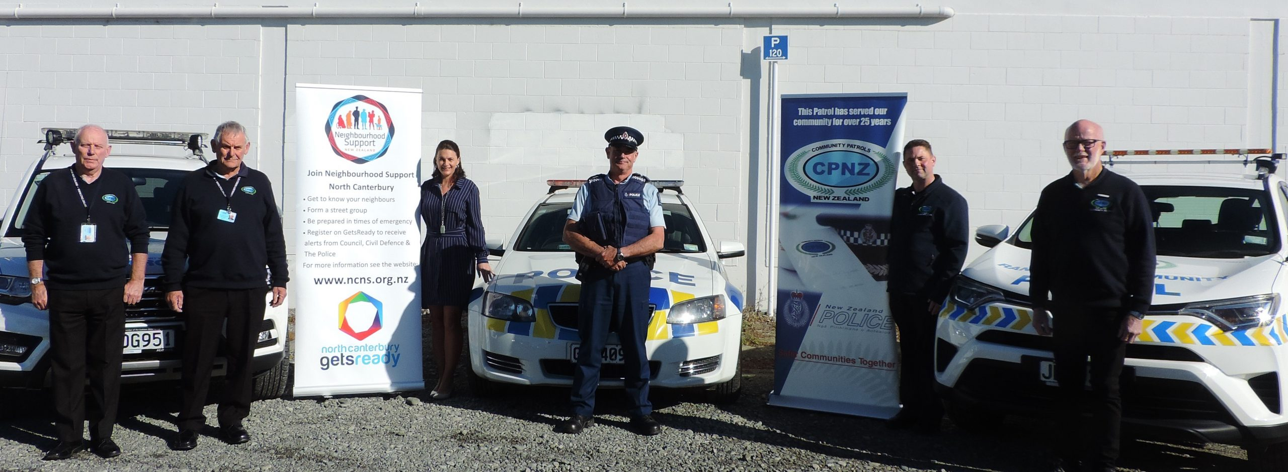 Kaiapoi Community Patrol co-ordinator Bill Diggons and the group's trainer, Owen Cassidy, North...