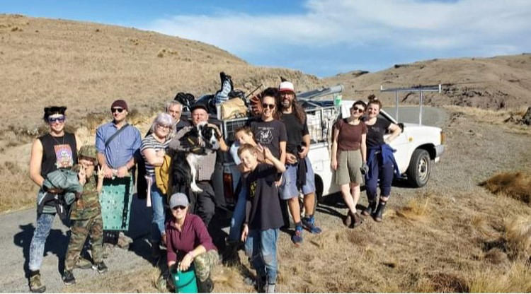 Lyttelton residents took to the Port Hills to clear up other people's rubbish during a...