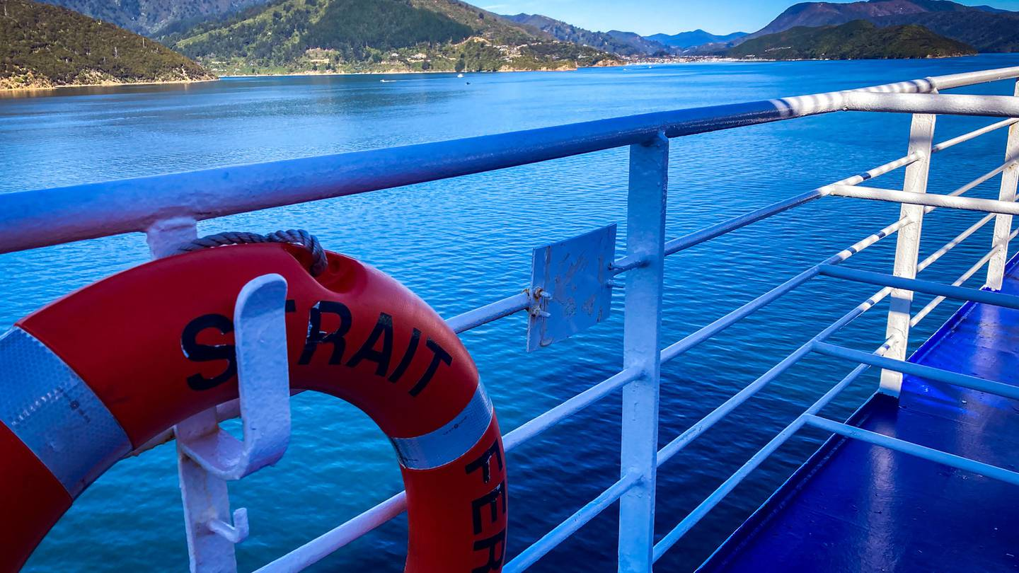 The Bluebridge Strait Feronia approaching Picton after docking was delayed 90 minutes. Photo:...