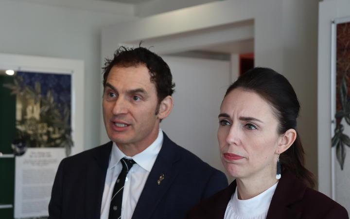 Prime Minister Jacinda Ardern and Stuart Nash. Photo: RNZ (file)