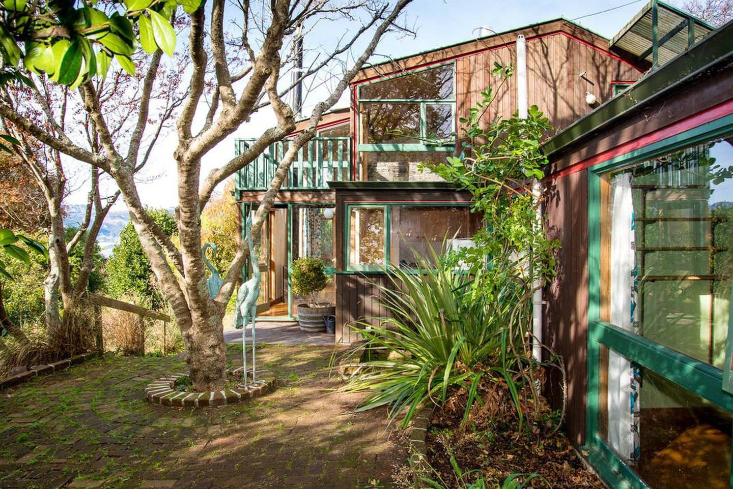 Margaret Mahy's old home at 23 Merlincote Cres, Governors Bay, is up for sale. Photo: Supplied