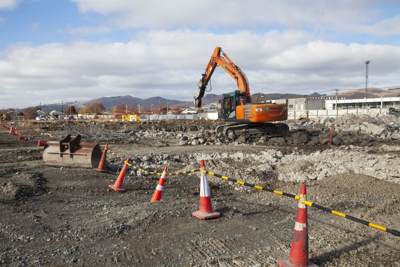 The redevelopment of the Lancaster Park site. Photo: Geoff Sloan