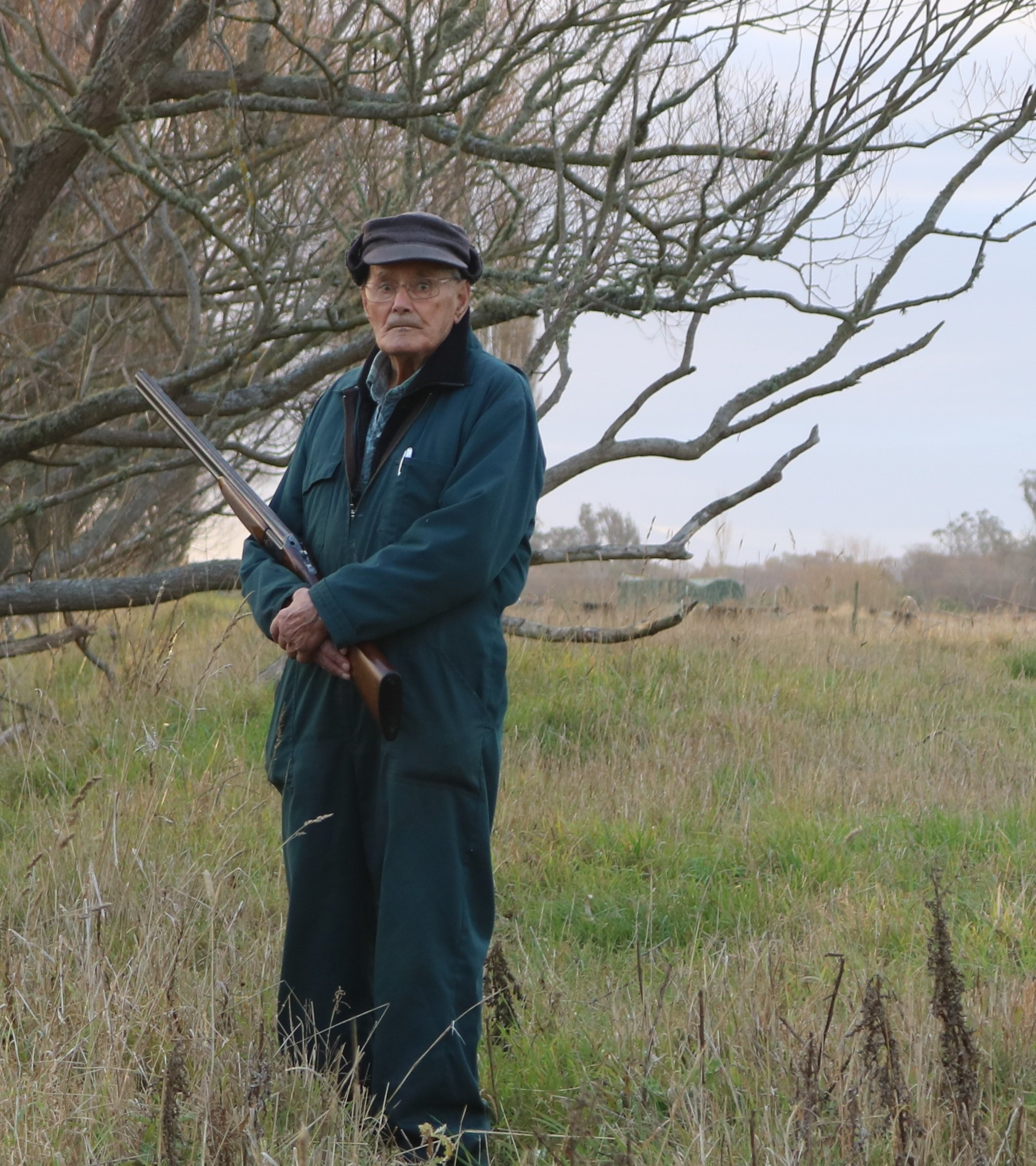 David Thomas (97), of Mosgiel, is duck-shooting in South Canterbury this season with his son,...