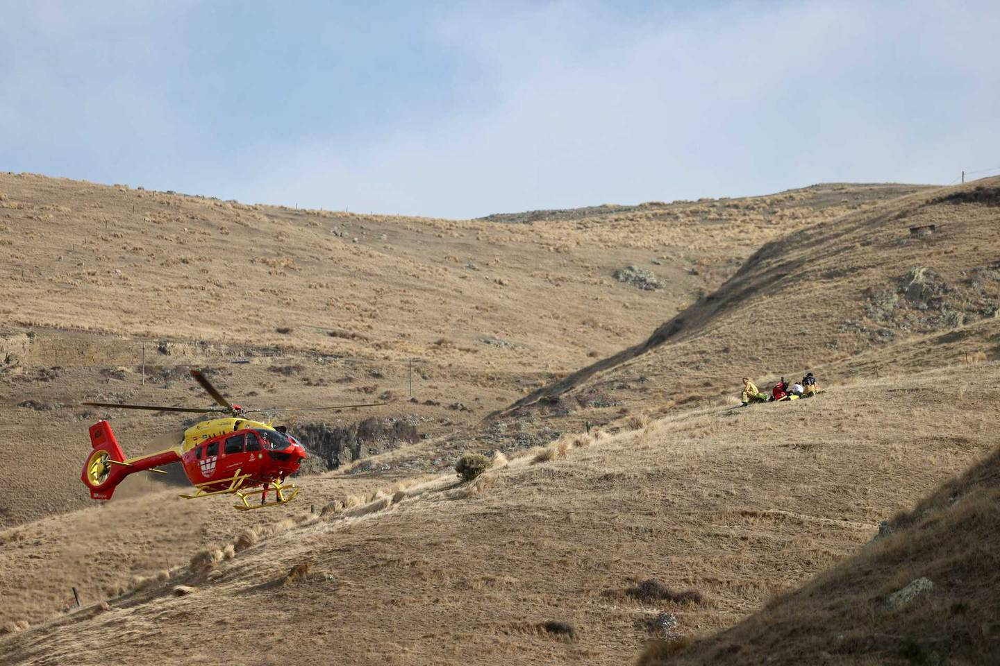 Police are responding to reports of a paraglider crash in Canterbury. Photo: George Heard