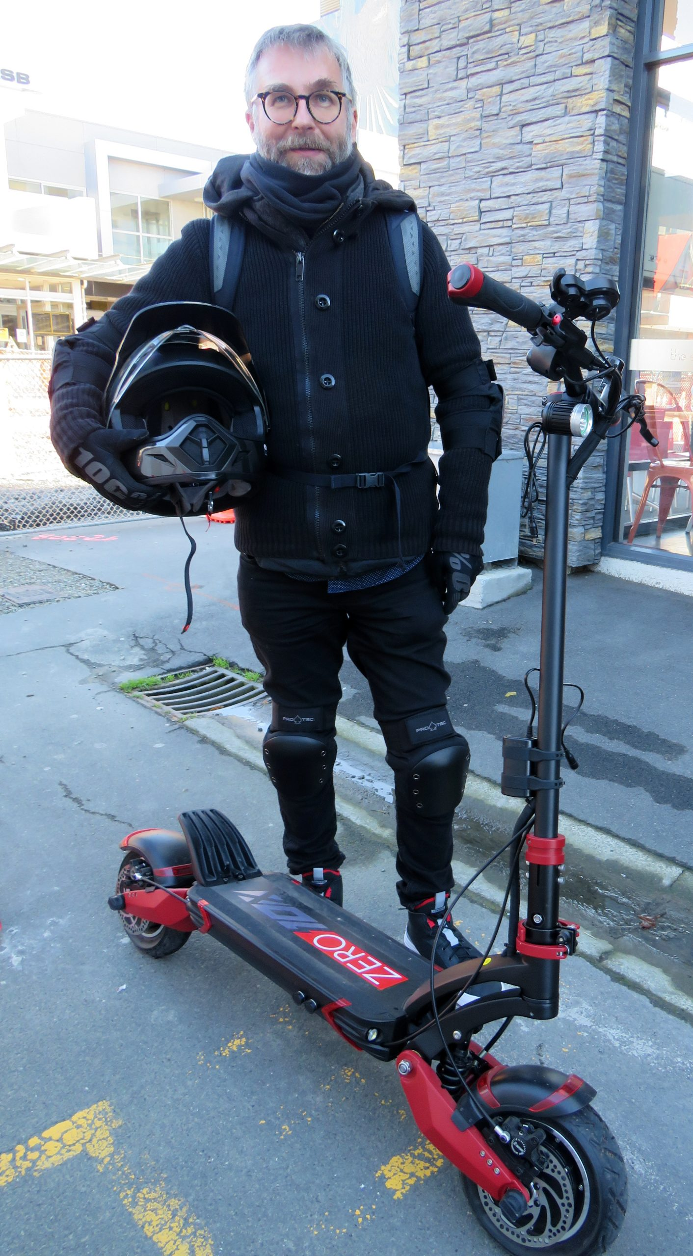 E-scooter rider Bobby Kurb is embarking on a big road trip next year. Photo: Supplied via...