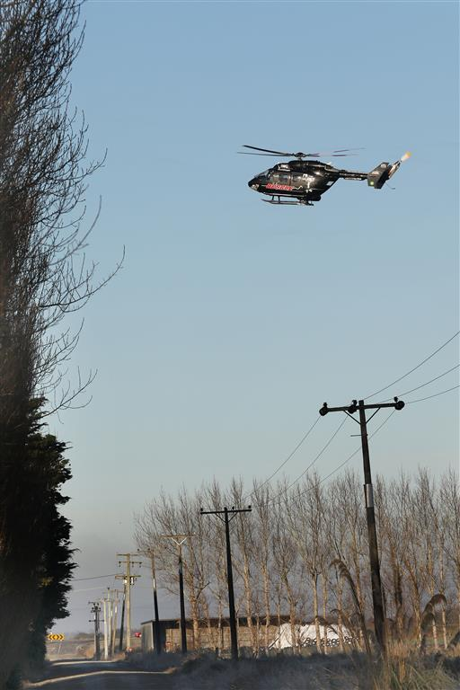 A rescue helicopter was called to the scene in Kaitangata this morning. Photo: John Cosgrove