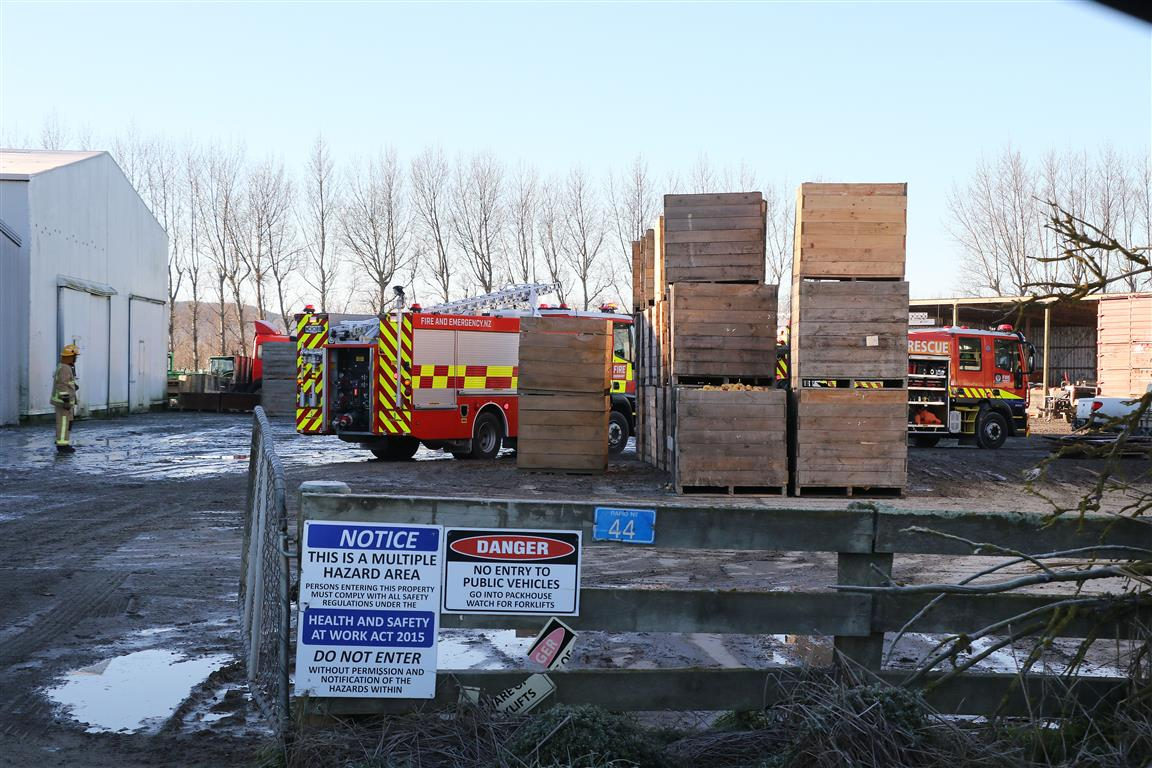 Emergency services at the scene this morning. Photo: John Cosgrove