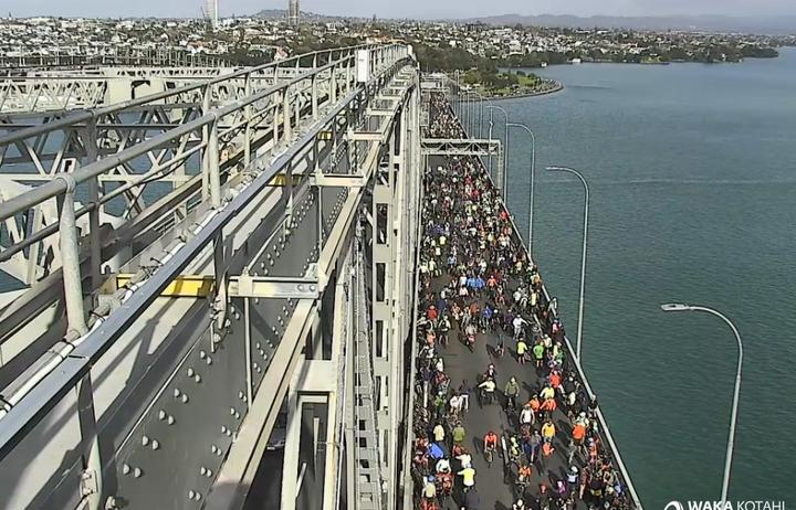 More than 1000 cyclists forced their way onto the Harbour Bridge last week, closing two...
