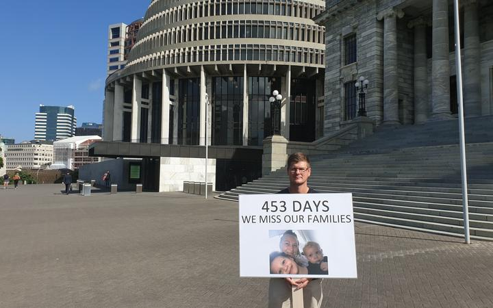 Henco de Beer stood outside Parliament earlier this year, calling on the government to allow...