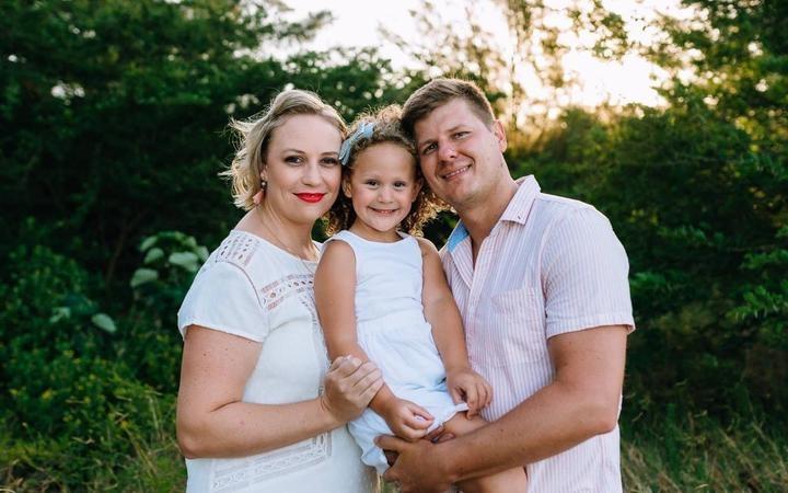 Henco de Beer, his wife Maryke de Beer, and daughter Emmabella. Photo: Supplied