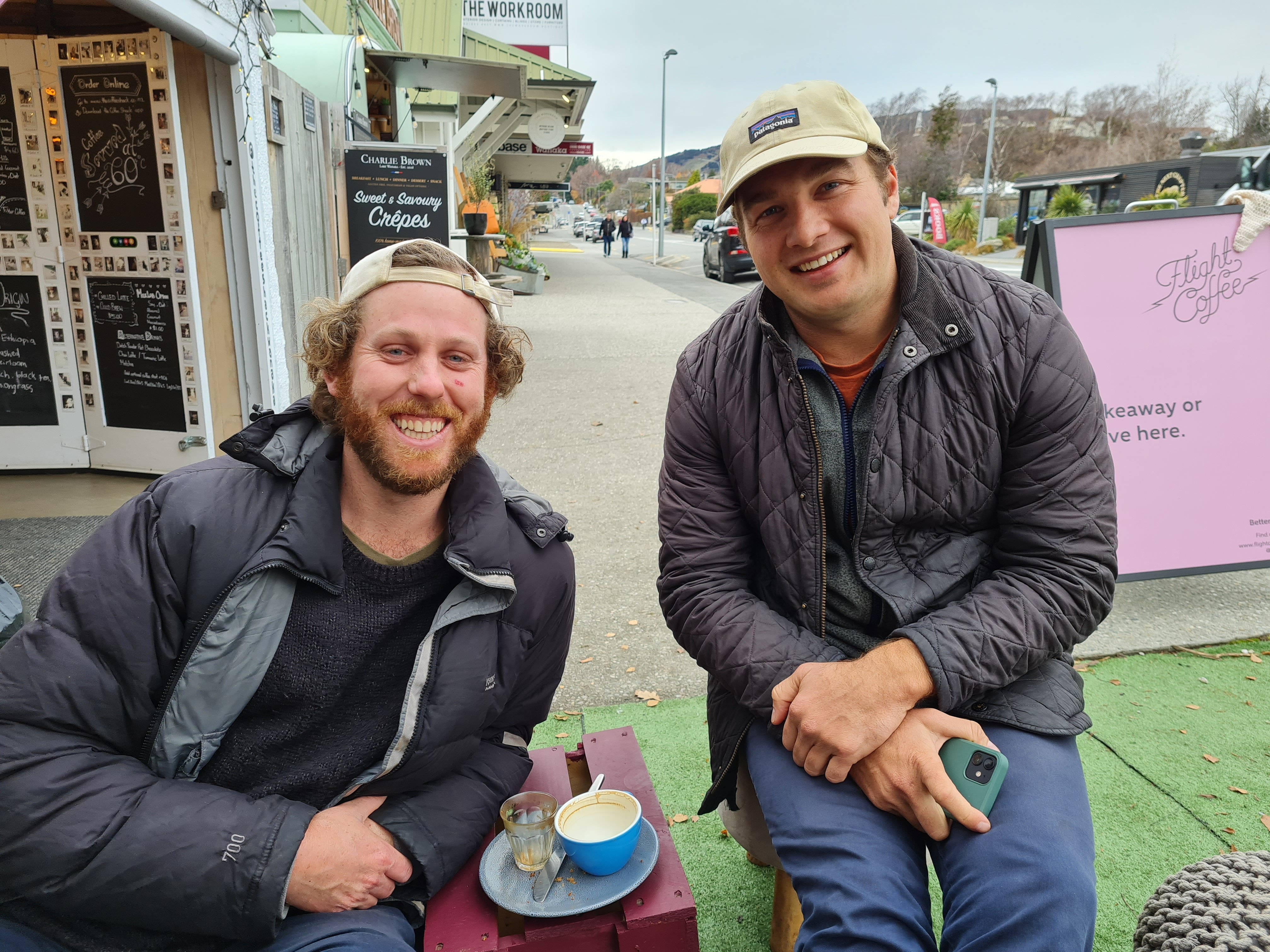 Queenstown resident Dre Hart (left) and Wanaka colleague Dave Thorn. PHOTO: MARJORIE COOK