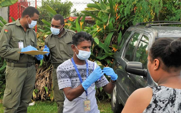 Health checks being carried out in Fiji in an effort to combat Covid-19 Photo: Facebook / Fiji...