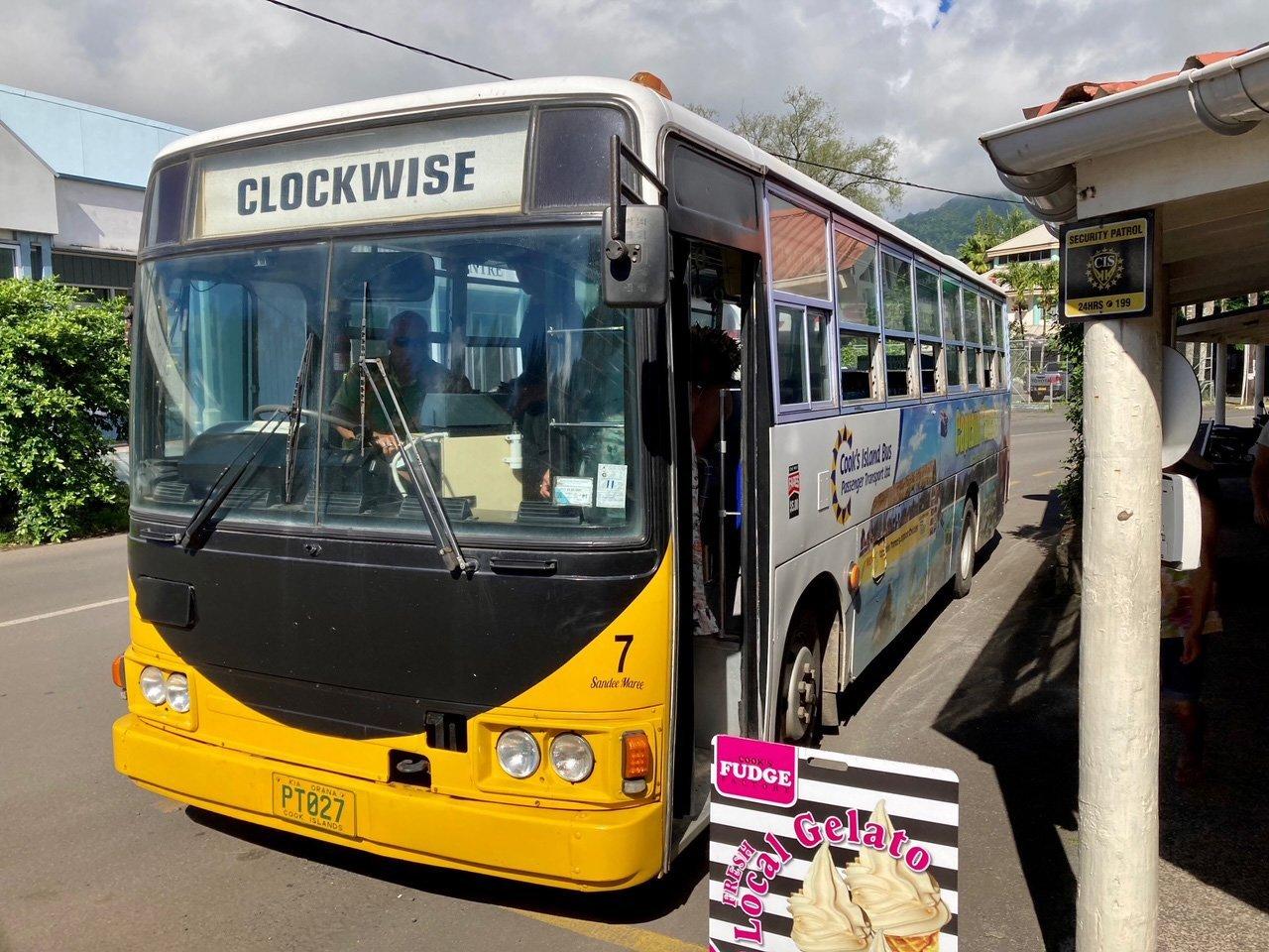 "The ""clockwise"" bus around the island."