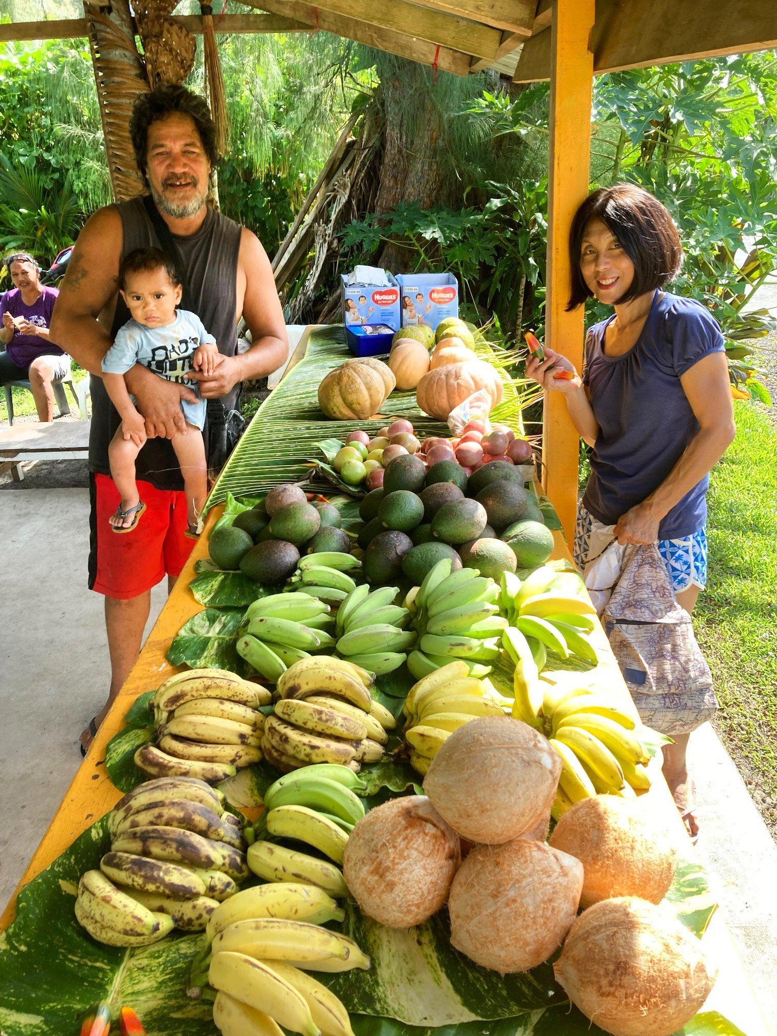 A roadside fruit stall.