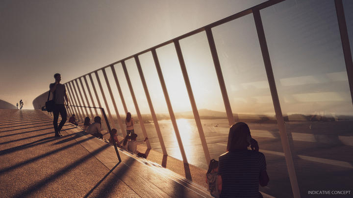 What the Northern Pathway could look like from a user perspective. Photo: Waka Kotahi/NZTA