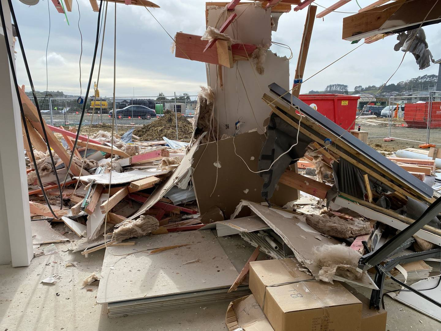 The damaged home will now need to be completely rebuilt. Photo: Supplied