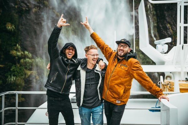 No Trace co-founders and event organisers, from left, Charlie Charalambides, Sebastian Dettmann and Alejandro Camhi. PICTURE: FEDERICO PAGOLA