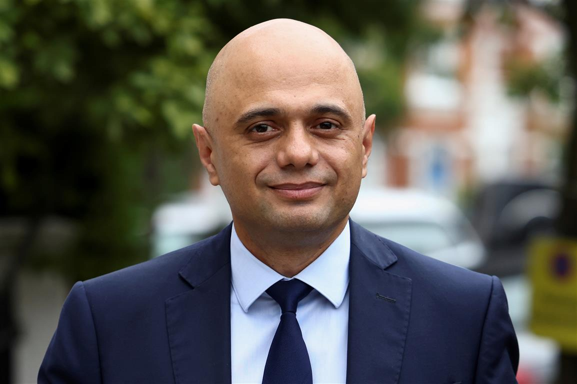 British health minister Sajid Javid. Photo: Reuters