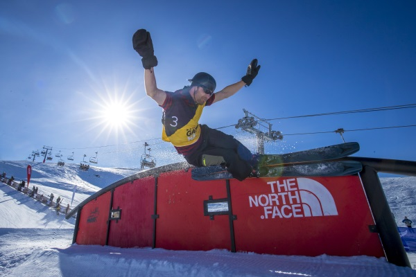 Wanaka freeskier Jackson Wells in action during last year's Winter Games NZ The Obsidian. Photo:...