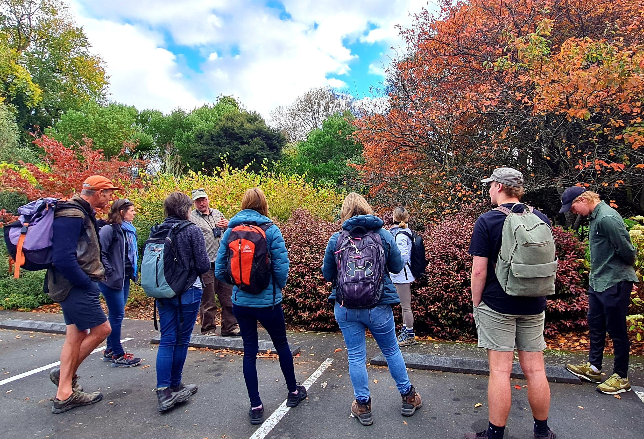 Peter Langlands takes a group on a foraging tour. PHOTOS: JACKIE PHILLIPS