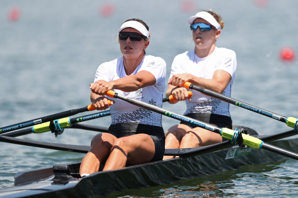 Hannah Osborne and Brooke Donoghue have won silver for New Zealand in the women's double sculls....