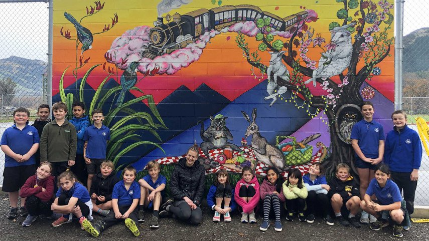 Budding artists at Little River School helped Frankie Bakker come up with the design for a new...