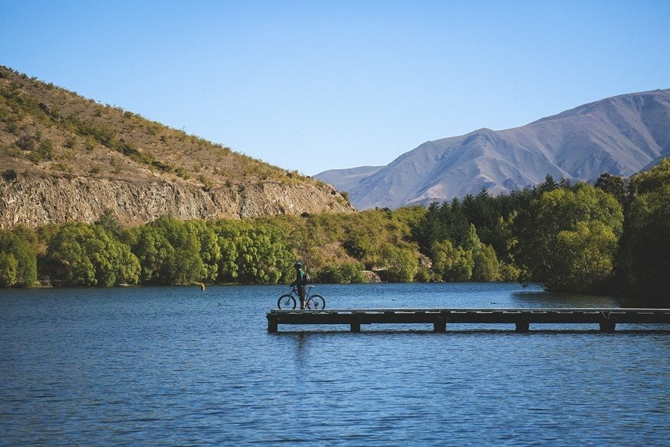The newest section of the Alps 2 Ocean cycle trail from Sailors Cutting (pictured) to Benmore dam...